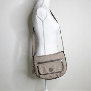 KIPLING Cream Tan Crossbody Bag